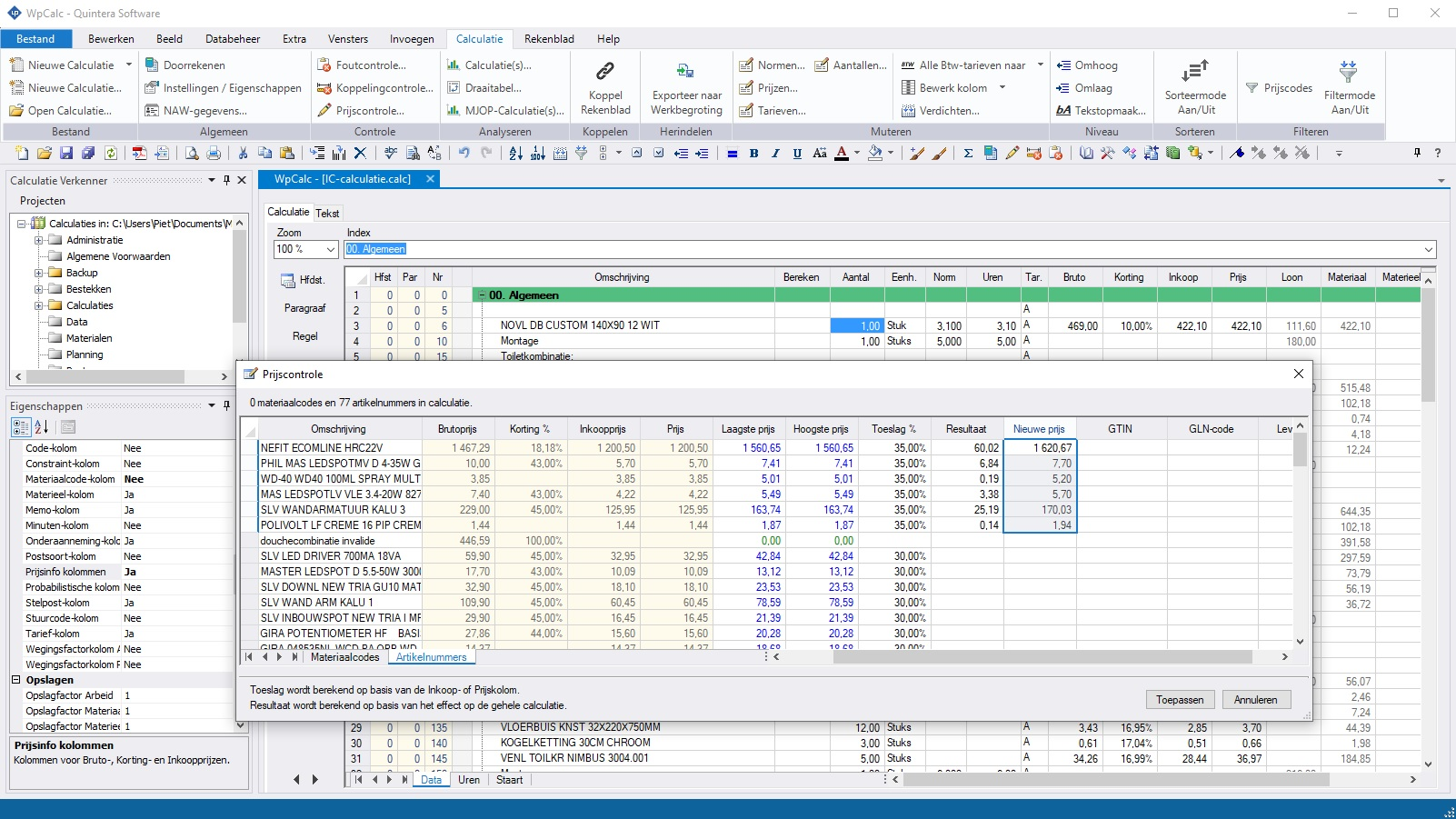 calculatieprogramma-bouw-prijscontrole