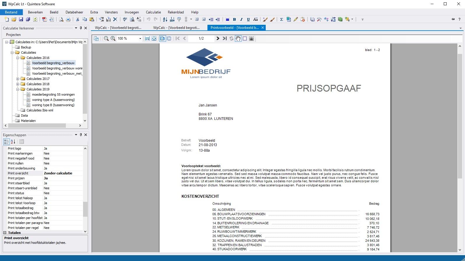 calculatieprogramma-bouw-printvoorbeeld